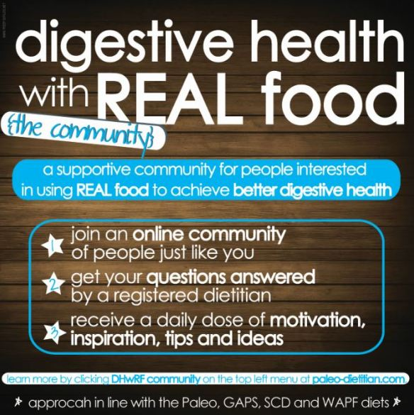 Join the Digestive Health with REAL Food community!